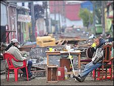 Danmificados del terremoto en Chile