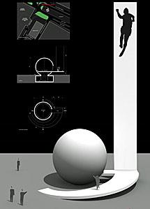 Boceto de la obra de Niemeyer