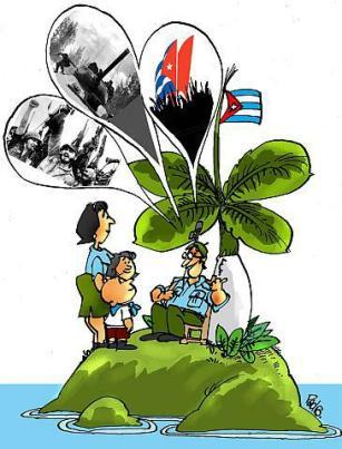 Caricatura sobre Girón, de Pedro Méndez