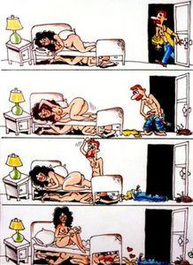 Voy abajo, caricatura de Douglas Nelson