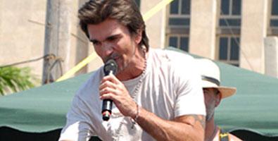 Juanes, en un ensayo del concierto Paz sin Fronteras