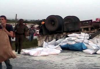 Trágico accidente en Sagua la Grande.