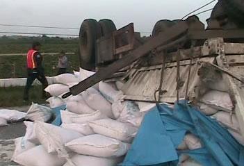 Accidente de tránsito en la zona de Sagua la Grande, provincia de Villa Clara.