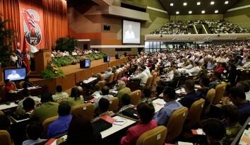 Sesión del Congreso del Partido Comunista de Cuba