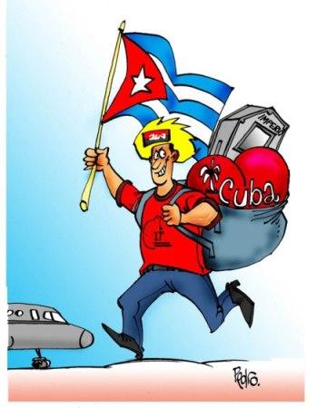 Caricatura sobre Festival de los Estudiantes