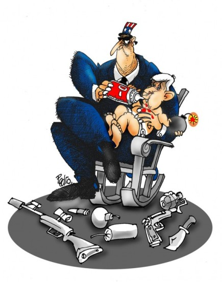 Caricatura de Pedro Méndez, director del humorístico Melaíto