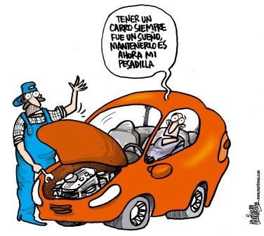 Carro. caricatura de Martirena