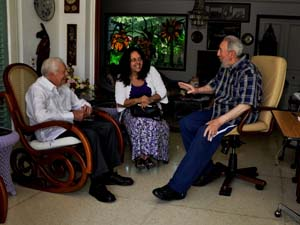 James Carter y Fidel Castro, marzo 2011