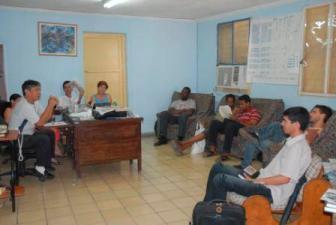 Periodistas de Vanguardia en reunión de trabajo