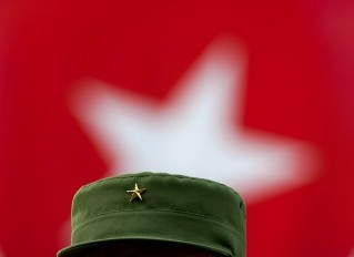 Fidel en el acto por aniversario de los CDR