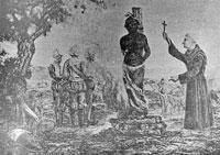 quema de Hatuey en la hoguera