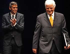 Geroge Clooney y su padre Nick