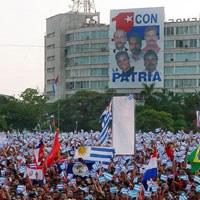 Desfile por el Primero de Mayo en Cuba