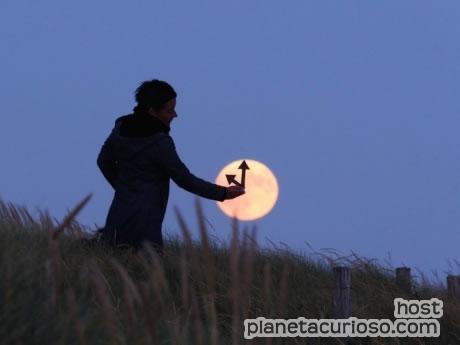Jugando con la luna