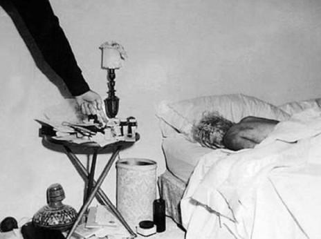 Marilyn Monroe el día de su muerte