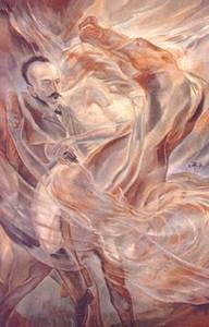 Muerte de Martí en Dos Ríos , autor Carlos Enríquez, óleo sobre tela