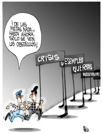 Metas del Milenio, caricatura de Pedro Méndez