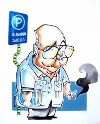 Enrique Núñez Rodríguez visto por el caricaturista Pedro Méndez