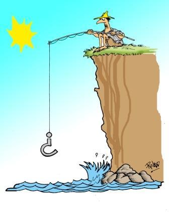 Pescador: caricatura de Roland, del humorístico Melaíto