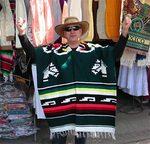 sarape o poncho mexicano
