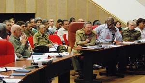 Raúl Castro en el Pleno de la CTC