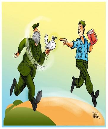 Caricatura de Pedro Méndez, director del humorístico Melaíto. El relevo