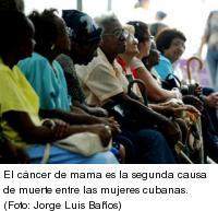 cáncer de mama, segunda causa de muerte en Cuba