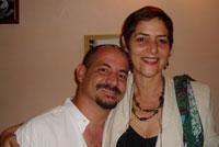 Yamil Díaz Gómez y Laidi Fernández de Juan, autora de esta entrevista
