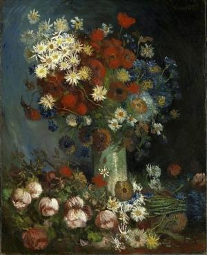 Imagen cedida por el museo holandés Kröller Müller de un nuevo cuadro del pintor Vincent Van Gogh, de dimensiones poco habituales para ese artista y cuya autenticidad se ha confirmado tras un año de investigaciones.