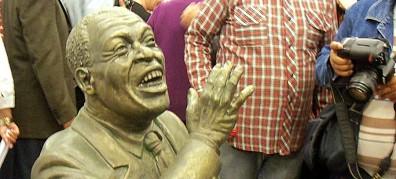 Escultura de Ignacio Villa, conocido mundialmente como Bola de Nieve, en el Museo de los Artistas. (Foto: Radio Cadena Habana)