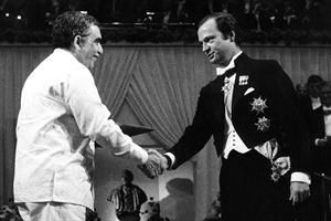 El escritor colombiano recibió la distinción en 1982. Foto: Archivo
