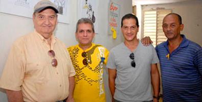 De izquierda a derecha: Pedro Méndez, Martirena, Janler y Linares, parte del colectivo de Melaíto. Foto: Vanguardia