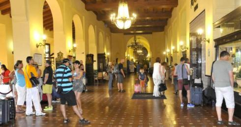 El lobby del Hotel Nacional siempre suele estar concurrido.