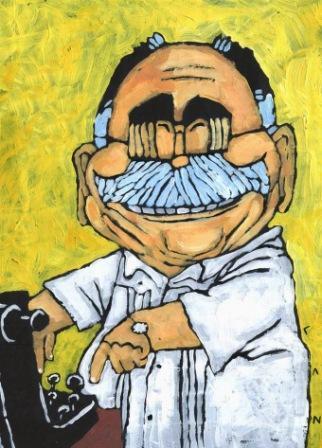 Premio en pintura para una serie de Caricaturas personales de Lázaro Miranda (Laz).
