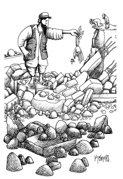 entre escombros