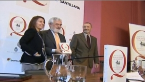 La edición escolar y popular del Quijote, es publicada por la editorial Santillana y la RAE con motivo de su tricentenario. | Foto: Rtve