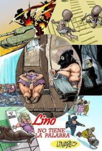 El hambre, la guerra, el medioambiente, el sexo, y hasta personajes cinematográficos como Frankenstein, son temas que aparecen en la muestra de Linares.