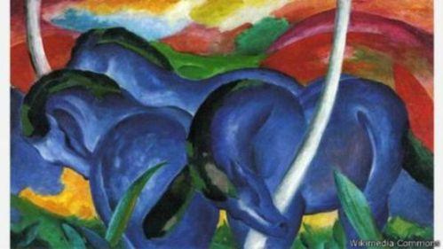 Grandes Caballos Azules, 1911.